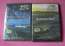 Ocean Dreamz Summer Surf Audio DVDs Living Art Mood Enhancing Relaxation LOT