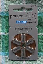 66 x PowerOne Varta Typ 312  P312  PR41 Hörgerätebatterien Blister Batterien