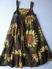 6-7 Girl's GAP Brown Sunflower Lined Maxi Sundress Sleeveless Dress