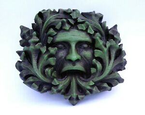 Green Man Pagan Gothic Wall Plaque Greenman Medieval Misericord Ornament Gift