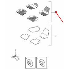 OEM VOLVO XC70 MK2 RUBBER FLOOR OFF BLACK MATS SET RHD 39807573 GENUINE