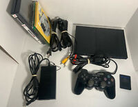 Sony PlayStation 2 Slim Console PS2 Sony SCPH-70012 8 Games Read Description