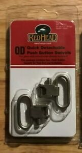 """1 set -Uncle Mike's Red Head QD Push Button Swivels; 1""""  Slings Nickel#1405-2"""