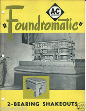 Equipment Brochure - Allis-Chalmers - Foundry Shakeout 2 items 1948/50 (E2793)