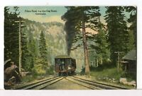 "1907 - 1915 Train at the Pike's Peak ""Wye"" Colorado Springs, CO Postcard"