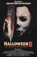 Halloween 5 The Revenge of Michael Myers - A4 Laminated Mini Movie Poster