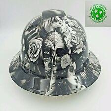 New Custom pyramex (Full Brim) Hard Hat W/ratchet suspension no love all hustle1