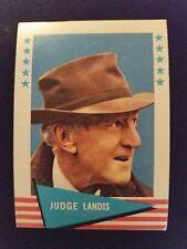 1961 Fleer Baseball Greats Card # 53 Kenesaw M. Landis (HOF)