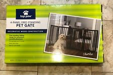 Brand New Never Opened Top Paw 4 Panel Free Standing Pet Gate Fits 72 inch