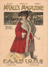 Jan 1905 McCalls Magazine Holiday Number Dressmaking Fashiom Recipes Ads Crochet