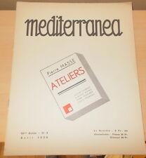 MEDITERRANEA N°4 1938 ILLUSTRE BOIS ORIGINAUX LOUIS MOREAU GIRARD MOND MARTINET