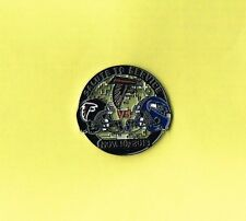 Atlanta Falcons November 10, 2013 Game vs Seahawks NFL Football Lapel Hat Pin