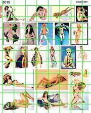 6015 DAVE'S DECAL VINTAGE & MODERN PIN POSTERS PLAYBOY STYLE ART 50'S 60'S 70'S
