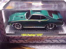 M2 Ground Pounders 1969 Pontiac GTO Green with Real Riders