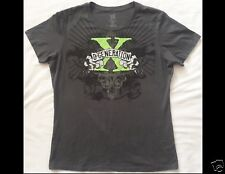 WWE Wrestling D-GENERATION X Female Size 2X Fitted Gray T-Shirt