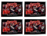(4) 1991 Legends #47 Thurman Thomas Football Card Lot Buffalo Bills
