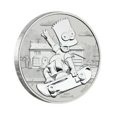 TUVALU 1 Dollar Argent 1 Once Bart Simpson  2020