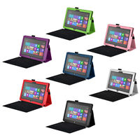 """Folio Folding Leather Cover Case for Microsoft Surface Pro 2 / 12"""" Surface Pro 3"""