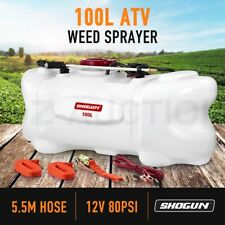 New 100L ATV Weed Sprayer 12V Pump Tank Chemical Park Garden farm Water Spraying