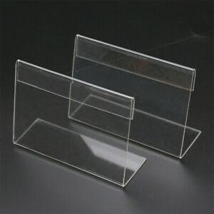 20 Stk Tischaufsteller Aufsteller 9x6cm Acryl Preisschild Halter Preisaufsteller