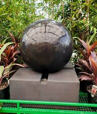 Outdoor Garden Patio Water Feature Sphere Round Ball Fountain Charcoal Black