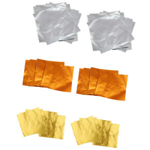 Chocolate Candy DIY Package Foil Paper Tinfoil Wrapper Gold, Silver & Orange