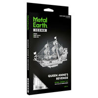 Fascinations ICONX Queen Anne's Revenge Ship 3D Metal Earth Laser Cut Model Kit