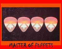 MASTER OF PUPPETS 4 PICK LOT (METALLICA GUITAR PICKS)  ATTN: GIBSON & ESP FANS!!