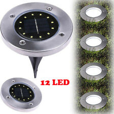 12LED Solar Power Buried Light Under Ground Lamp Outdoor Path Way Garden Decking