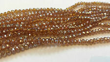 100 Faceted Rondelle Crystal Glass Beads 47 COLOURS 3x4mm Jewellery making arts