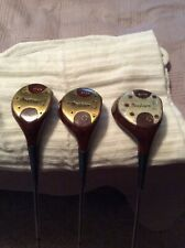 MacGregor 1964 Tommy Armour AT2W Persimmon Wood set 1,3,4 Med firm Steel Shafts