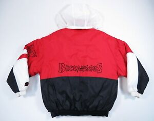 Tampa Bay Buccaneers NFL Starter Big Logo Hooded Quilted Puffer Winter Jacket M