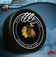 COREY CRAWFORD Signed Chicago Blackhawks Official Game Puck