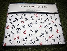 """$98. TOMMY HILFIGER """"ANCHORS"""" (FULL) SHEET SET (Flat, fitted & 2 Pillowcases)"""