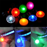 Pet Dog Puppy LED Flashing Collar Tag Clip Buckle Safety Night Light Pendant Hot