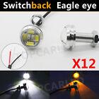 1Set Switchback Dual Color White+amber 5730 6SMD Eagle Eye Led Lights Bulbs DRL