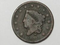 1831 US Coronet Head Large Cent Coin (Large Letters).  #6