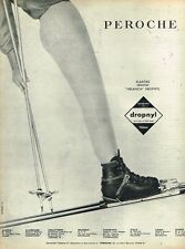 D- Publicité Advertising 1962 Les vetements de ski pantalon fuseau Peroche