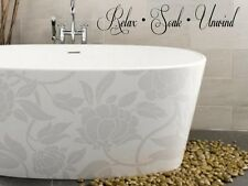 RELAX SOAK UNWIND Vinyl Lettering Decals Words Home Walls Bath Spa Bedroom Art