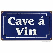 Cave A Vin rusted steel sign    360mm x 200mm    (pst)