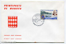 MONACO FDC premier jour, LIONS INTERNATIONAL, MELVIN JONES, TP 725,  28.4.1967