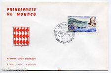 MONACO FDC premier jour, LIONS INTERNATIONAL, MELVIN JONES, TP 725,  28.4.1967