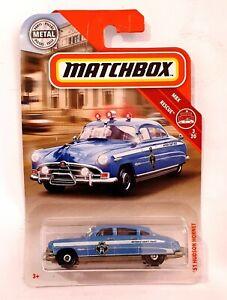 Mattel Matchbox 1951 '51 HUDSON HORNET Police Car 1:64 Diecast Model MBX 57/100