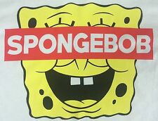 Mens New Funny Spongebob Squarepants Cartoon Nickelodeon White T-Shirt L Large