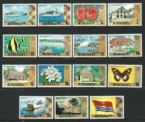 Kiribati 1979 to 1981 - Complete set of Definitives up to $5 - Set of 15 - MNH