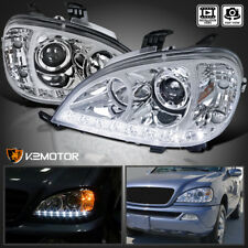 02-05 Mercedes Benz W163 ML350 ML55 SMD LED DRL Clear Projector Headlights Lamps