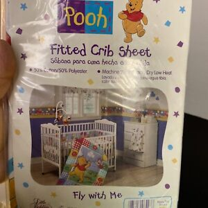 Disney's Winnie The Pooh fly with me Fitted Crib Sheet by little bedding USA mad