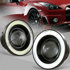 """3.5"""" Round White LED COB DRL Glass Halo Projector Lens Fog Driving Lights Lamp"""