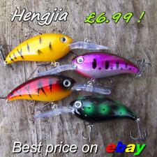 4 HENGJIA Pike Perch Trout chub fishing shad rap big s Lures Crank Plug Gear