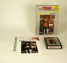 Vintage Boxed Atari 7800 game One On One Bird vs Johnson Tested & Working Cib